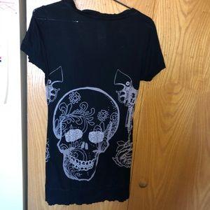 Crash and burn bling T-shirt